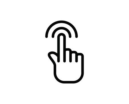 Gesture line icon. Vector symbol in trendy flat style on white background. Web sing for design.