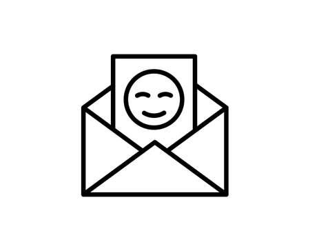 Greeting card line icon. High quality outline symbol for web design or mobile app. Thin line sign for design . Black outline pictogram on white background