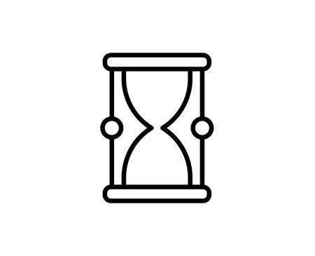 Hourglass line icon. High quality outline symbol for web design or mobile app. Thin line sign for design logo. Black outline pictogram on white background