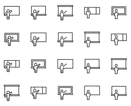 Lesson icon set. Collection of high-quality black outline logo for web site design and mobile apps. Vector illustration on a white background.
