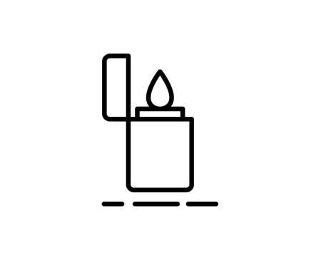 Lighter premium line icon. Simple high quality pictogram. Modern outline style icons. Stroke vector illustration on a white background. Ilustración de vector