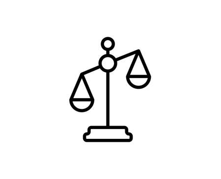 Libra flat icon. Thin line signs for design logo, visit card, etc. Single high-quality outline symbol for web design or mobile app. Libra outline pictogram. Illustration