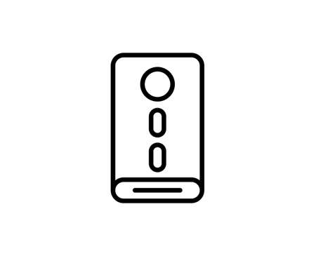 Power bank line icon.
