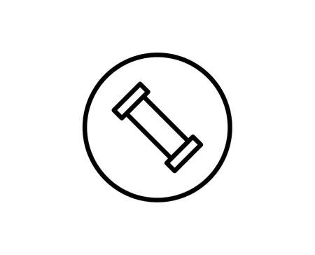 Plumb line icon. High quality outline symbol for web design or mobile app. Vettoriali