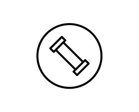 Plumb line icon. High quality outline symbol for web design or mobile app. Vector Illustration