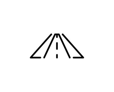 Road line icon. Vector symbol in trendy flat style on white background. Road sing for design.