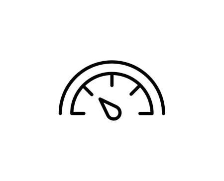 Speedometer flat icon. Single high quality outline symbol for web design or mobile app. Speedometer thin line signs. Outline pictogram Illusztráció