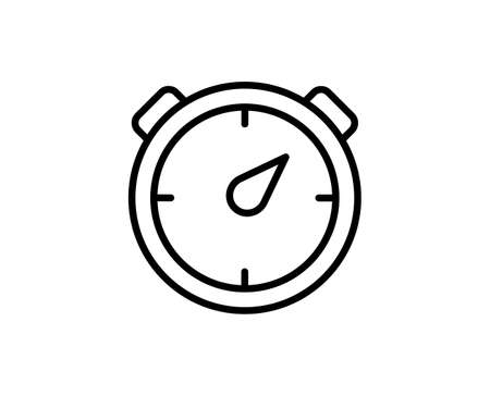 Speedometer flat icon. Single high quality outline symbol for web design or mobile app. Speedometer thin line signs for design. Outline pictogram Illusztráció