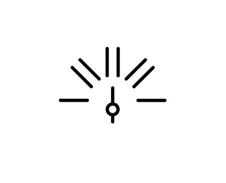 Speedometer flat icon. Single high quality outline symbol for web design or mobile app. Speedometer thin line signs for design, visit card, etc. Outline pictogram