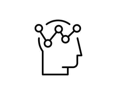 Strategy flat icon. Thin line signs for design, visit card, etc. Single high-quality outline symbol for web design or mobile app. Strategy outline pictogram.