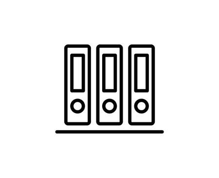 Archive line icon. Vector symbol in trendy flat style on white background. Web sing for design. Illustration