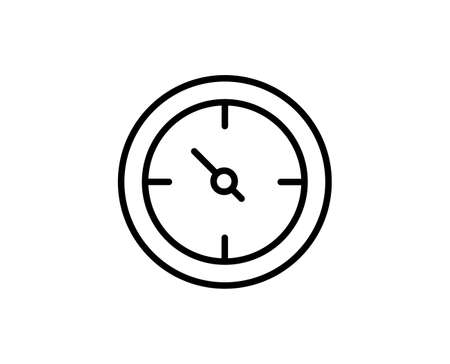 Speedometer flat icon. Single high quality outline symbol for web design or mobile app. Speedometer thin line signs for design.