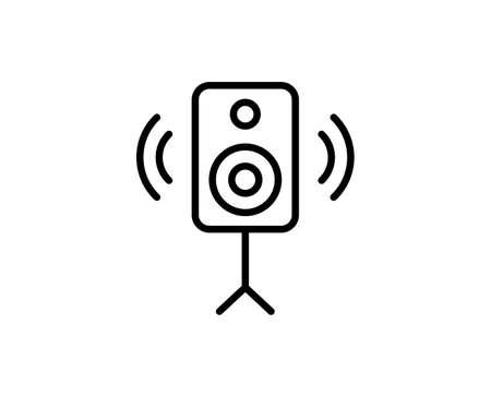Speaker flat icon. Thin line signs for design. Single high-quality outline symbol for web design or mobile app. Speaker outline pictogram.
