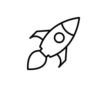 Rocket line icon. Vector symbol in trendy flat style on white background. Web sing for design. Illustration