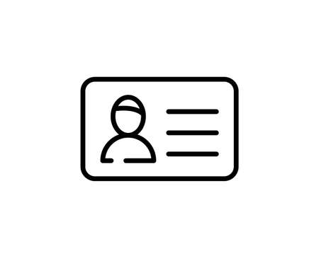 Persanal card line icon. Vector symbol in trendy flat style on white background. Web sing for design.