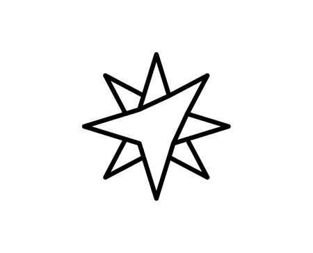 Spark flat icon. Single high quality outline symbol for web design or mobile app. Spark thin line signs for design. Outline pictogram