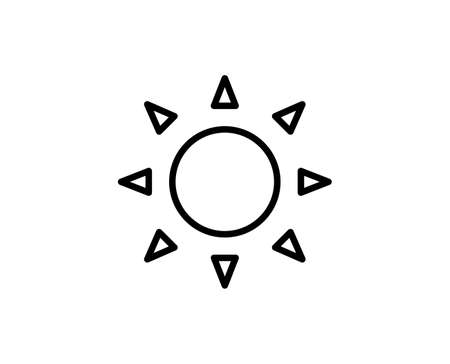 Sun premium line icon. Simple high quality pictogram. Modern outline style icons. Stroke vector illustration on a white background Illustration