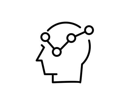 Strategy flat icon. Thin line signs for design. Single high-quality outline symbol for web design or mobile app. Strategy outline pictogram.