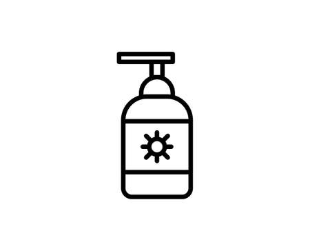 Sunscreen premium line icon. Simple high quality pictogram. Modern outline style icons. Stroke vector illustration on a white background.