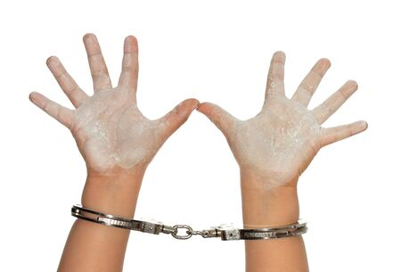 cuffed: Child hands cuffed