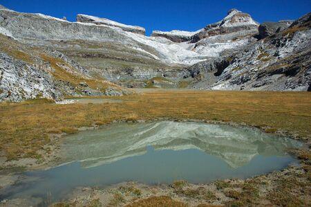 ordesa: Summer little lake in Ordesa national Park (Spain)