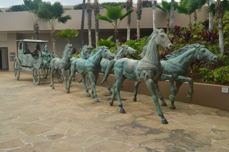 Chinese Emperors In Carriage In Hawaii.