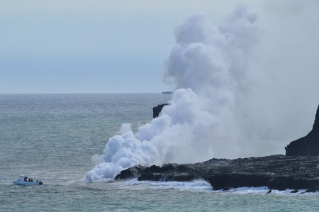 Lava Melting With The Sea. Big Island, Hawai, USA. EEUU.