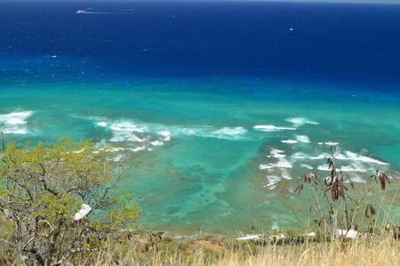 Cliffs of Diamond Head. Oahu, Hawaii, USA, EEUU. Stock Photo