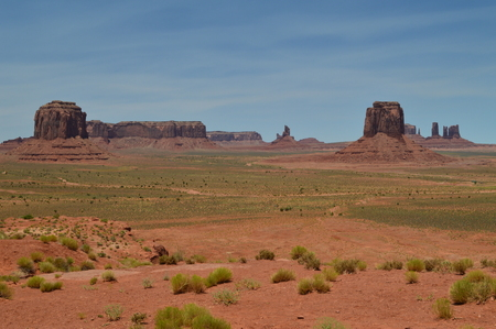Monument Valley. The Paradise of Geology. June 23, 2017. Utah. EEUU. USA.