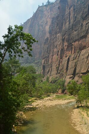 Geology Travel Holidays June 25, 2017. Zion Park. Springdale. Utah. USA.EEUU. Stock Photo