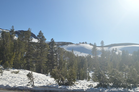 Sonora Pass Completely Snowy With Some Impressive Views Of Yosemite National Park. Nature Travel Holidays.  Yosemite National Park. Mariposa California. USA. EEUU.