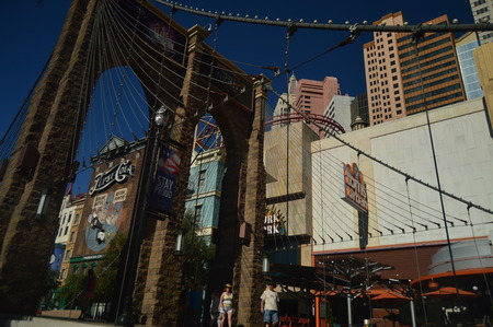 Hotels And Shops On The Las Vegas Strip June 26, 2017. Travel Holydays. Las Vegas Strip, Las Vegas Nevada USA EEUU.
