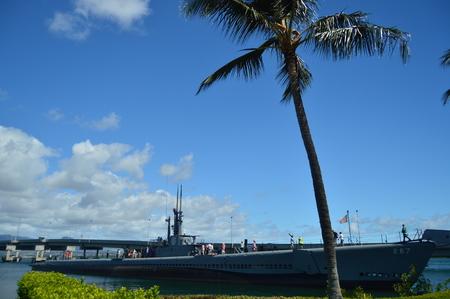 Submarine USS Bowfin. Pearl Harbon. Oahu, Hawaii, USA, EEUU.. Reklamní fotografie