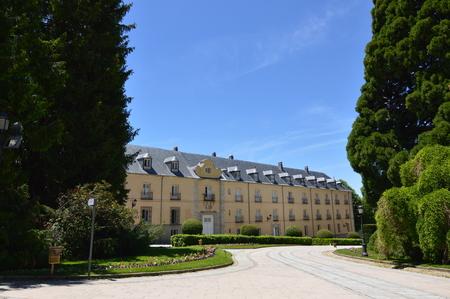 Facade Of The Palace Of The Gardens Of The Farm. Art History Biology. June 19, 2018. La Granja Segovia Spain. Editorial