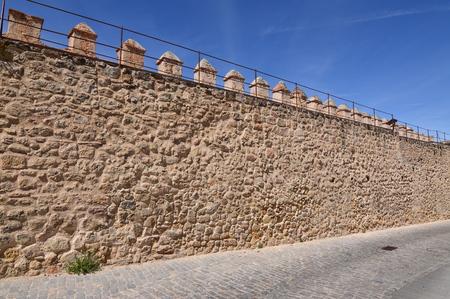Beautiful Walls In The Walled City Of Segovia. Architecture History Travel. June 18, 2018. Segovia Castilla-Leon Spain.