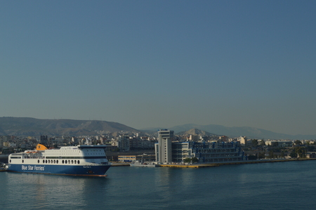 Take The Commercial Port Of Piraeus From A Cruise. Architecture Landscapes Travel Cruises. July 2, 2018. Piraeus Greece.