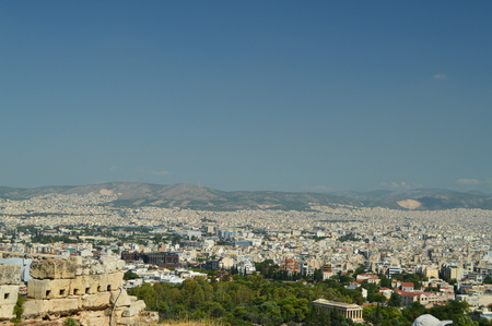 Wonderful Views Of The City Of Athens From The Acropolis. Architecture, History, Travel, Landscapes. July 9, 2018. Athens Greece.