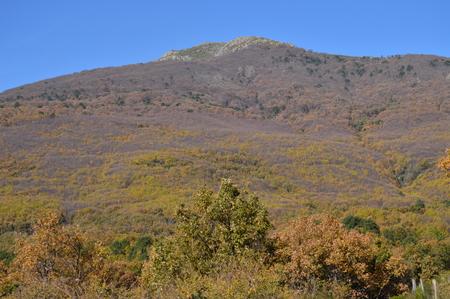 Beautiful Mountain On The Shore Of The Pajarero Reservoir.
