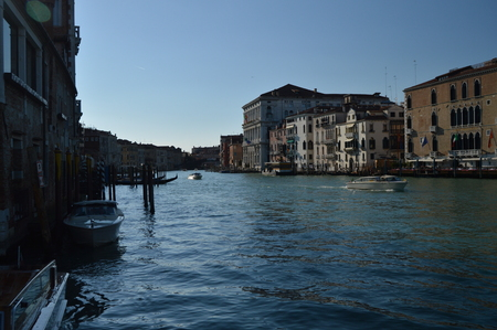 Grand Canal At Sunset In Venice. Travel, holidays, architecture. March 28, 2015. Venice, Veneto region, Italy. Editoriali
