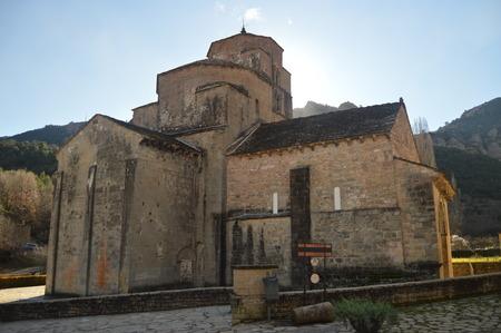 Side Facade Of The Church Of San Caprasio In Santa Cruz De Los Seros. Travel, Landscapes, Nature, Architecture.