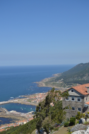 Views Of The Villa And The Harbor From The Castro De Santa Tecla In The Guard. Architecture, History, Travel. August 15, 2014. La Guardia, Pontevedra, Galicia, Spain.