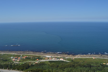 Atlantic Ocean Seen From The Celtic Castro Of Santa Tecla In The Guard. Architecture, History, Travel.
