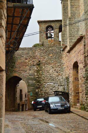 Arrebatacapas Arch Dated In The Middle Ages. Architecture, rural tourism, travel. March 18, 2016. Atienza, La Alcarria, Guadalajara, Castilla La Mancha, Spain. Redactioneel