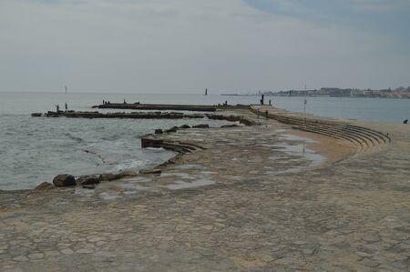 April 15, 2014. Estoril, Cascais, Sintra, Lisbon, Portugal. Fishing Area Near Poca Beach On The Estoril Coast. Travel, Nature, Landscape.