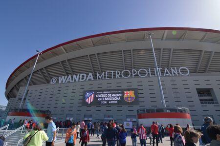 March 17, 2019. Women Soccer. Atletico De Madrid Versus Futbol Club Barcelona. World Record Historical Assistance Of Public To A Feminine Match To A Stadium. Spain. Europe. Iberdrola League Female.