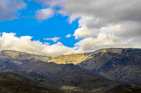 Circus Pico Almanzor Snowy And Sunny In The Sierra De Gredos In The Freillo. Banque d'images