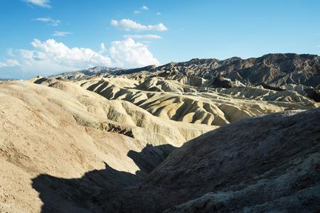 View of Zabriskie Point at the desert of Death Valley photo