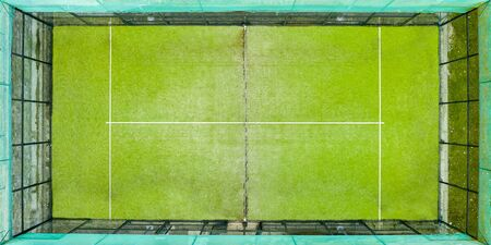 paddle tennis court, top view of the playing field, indoor sports concept and sporty lifestyle
