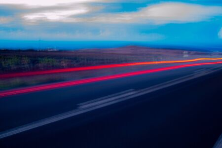 night photography and horizontal in full motion which gives an attractive blur that could be compared to the effect of alcohol or drugs, giving a feeling of anguish