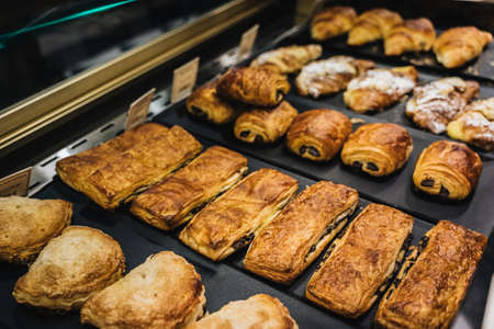 bakery assortment in a store display